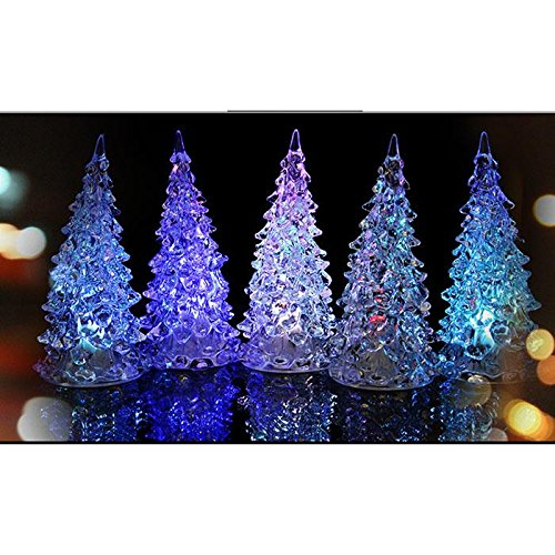 [Christmas Tree Ice Crystal Colorful Changing LED Desk Decor/Table Lamp Light] (Rock And Roll Costume Ideas For Men)