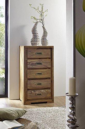 Legno massiccio Sheesham massiccio oliato mobili comò in palissandro mobili in legno massiccio Nature Brown #853