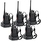 5 Pack BaoFeng BF-888S Long Range UHF 400-470 MHz 5W CTCSS DCS Portable Handheld 2-way Ham Radio With Original...