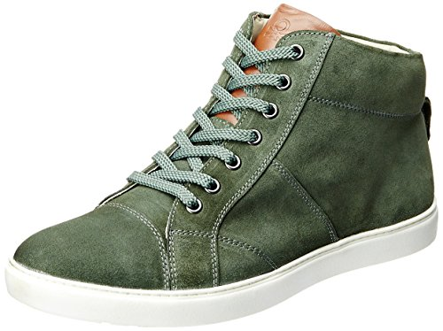 UCB Men's Olive Leather Casual Sneakers