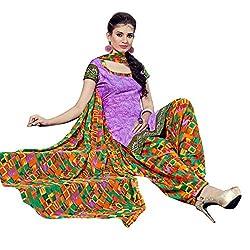 Aagaman Fashions Polyester Unstitched Salwar Suit (YTSSTPMSK10012_Violet)