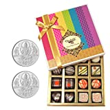 Chocholik Belgium Chocolates - Impressive Collection Of Chocolates And Truffle Gift Box With 5gm X 2 Pure Silver...
