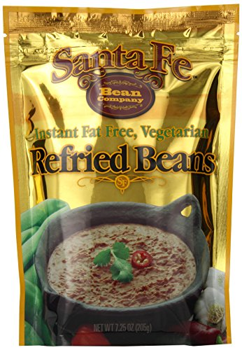 Santa Fe Bean Co., Instant Fat Free Vegetarian Refried Beans, 7.25-Ounce Pack (Pack of 8) (Freeze Dried Refried Beans compare prices)