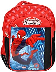Priority Black And Red Spiderman Kids School Bag