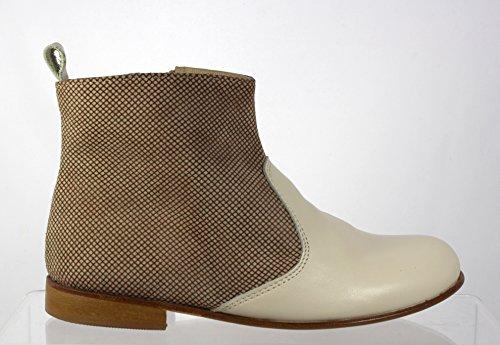 PèPè ragazza &-Stivaletti alla caviglia da uomo, in pelle scamosciata di alta qualità, Made in Italy-EU31, elegante