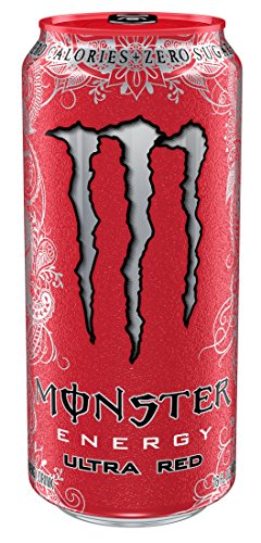Monster Energy, Ultra Red, 16 Ounce (Pack of 24) (Red Monster compare prices)