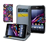 Juju Village Sony Xperia Z1 Compact/Mini Jelly Fish PU Leather Wallet Case