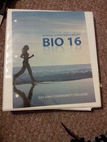 introduction to human biology bio 16 looseleaf special. Black Bedroom Furniture Sets. Home Design Ideas