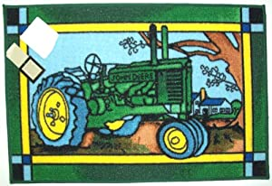 john deere tractor bath mat rug home kitchen