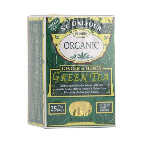 Wholesale St Dalfour Ginger And Honey Green Tea - 25 Tea Bags, [Food, Tea]