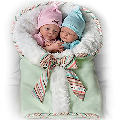 Ashton-Drake Lifelike Twin Baby Doll Set By Donna Lee: Madison And Mason by  The Ashton-Drake Galleries