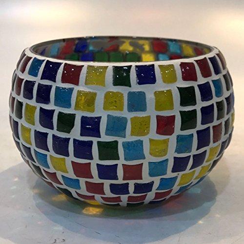 Dlite Crafts Multicolor Polka Design Home Decorative Votive Candle Holder, Set Of 2 PCs - B06XZJ7XQT