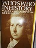 img - for Who's Who in History Volume V: England 1789-1837 book / textbook / text book