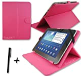 Rose Pink PU Leather Case Cover Stand for Fujitsu Stylistic M532 10.1'' 10.1 Inch Android Tablet Pc + Stylus Pen