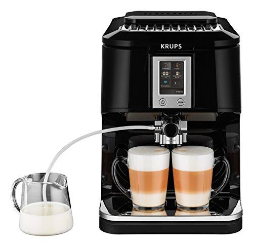 Krups EA8808 Kaffeevollautomat (Two-in-One-Touch Funktion, 15 bar, Touchscreen-Farbdisplay) Edelstahl/ Schwarz thumbnail
