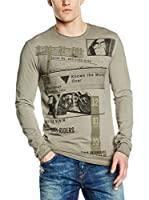 Guess Camiseta Manga Larga Motorcycle Clu (Caqui)