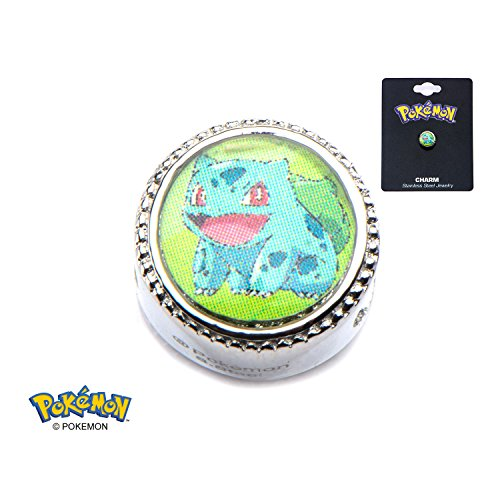 Pokemon Squirtle Water Drop 316L Surgical Steel Bead Charm