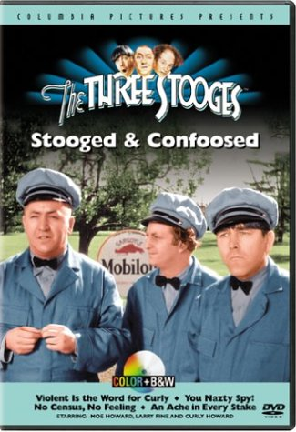Colorized version of the Three Stooges short film, Violent is the Word for Curly