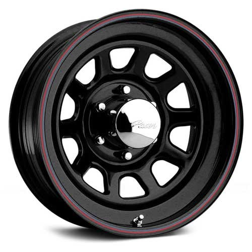 Pacer Black Daytona 15x10 Black Wheel / Rim 5x4.5 with a -38mm Offset and a 83.82 Hub Bore. Partnumber 342B-5112 (Daytona Rims 5x5 compare prices)