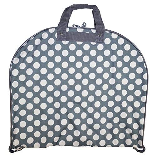 Ever Moda Grey Polka Dots 40-inch Hanging Garment Bag