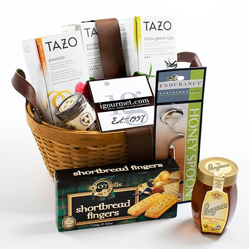 Basket of Tea and Honey Featuring Tazo Teas (4