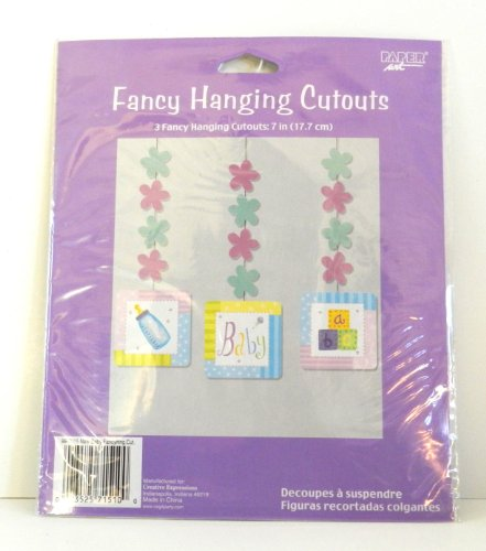 Baby Fancy Hanging Cutouts - 3 Cutouts Included