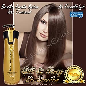 KERATIN BIO-BRAZILIAN TREATMENT KERATIN CURE GOLD & HONEY BIO STRAIGHTENER FORMALDEHYDE FREE PROFESSIONAL TREATMENT 960ML ML / 32 FL OZ -KERATINA BRASILERA TRATAMIENTO QUERATINA PELO LISO CREAMY FORMULA