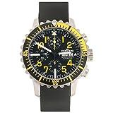 Fortis Men's 671.24.14 K B-42 Marinemaster Chronograph Yellow Analog Display Automatic Self Wind Black Watch
