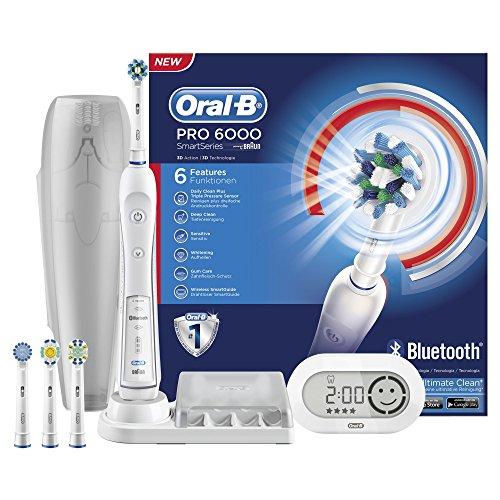 Oral-B White 6000 CrossAction Smart Series wiederaufladbare elektrische Zahnbürste (mit Bluetooth)
