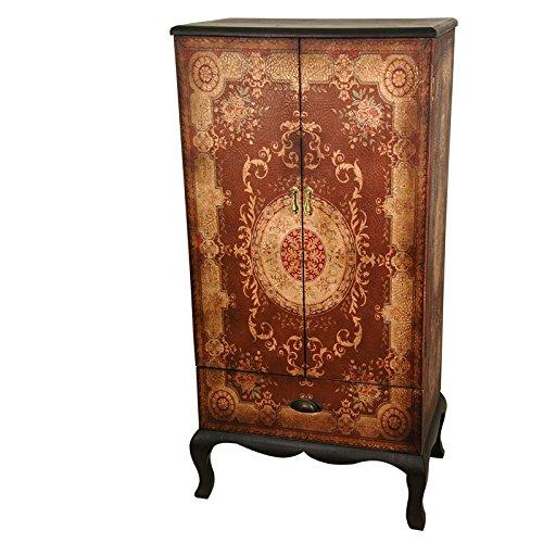 Oriental Furniture Olde-Worlde European Two Door Cabinet Low 2 Door Cabinet