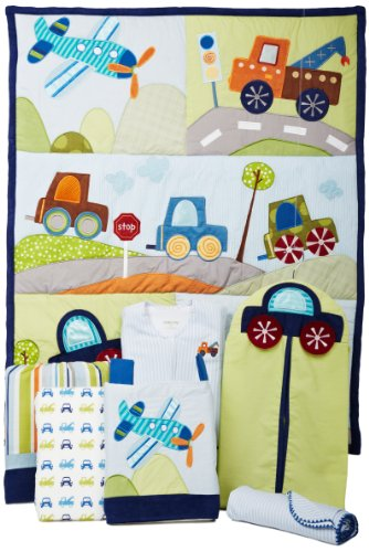 Lambs & Ivy 7 Count Bedding Set, Little Traveler - 1