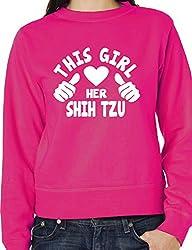 This Girl Loves Her Shih Tzu Dog Ladies Unisex Sweatshirt Size S-XXL