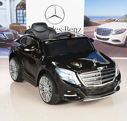 mercedes benz s600 12v kids ride on battery powered wheels car rc remote black little kid cars