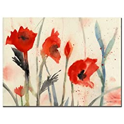 Trademark Fine Art Poppies by Sheila Golden, 18x24 inches