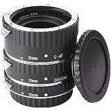 XCSOURCE® AF Macro Extension Tube Ring Set (13mm, 21mm, 31mm) For Canon EOS EF 5D 6D 60D 7D 70D 300D 350D 400D 450D 500D 550D 600D 700D 1000D 1100D 1200D Digital SLR Cameras (Silver)