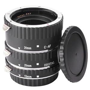 Jeu de tubes-allonges Macro Autofocus Jeu macro extension anneaux pour objectif Canon EOS EF 1DX 5D Mark 5D2 5D3 6D 7D 70D 60D 700D 650D 1100D 1000D 600D 50D 550D 500D 40D 30D 350D 400D 450D 30D 10D DC373