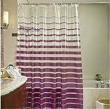 PVC Environmental Bathroom Shower Curtain With Purple Striped,72x80Inch(180x200CM) Bathroom Shower Curtain