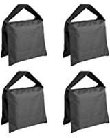 Neewer® Heavy Duty Photographic Sandbag Studio Video Sand Bag for Light Stands, Boom Stand, Tripod -4 Packs Set