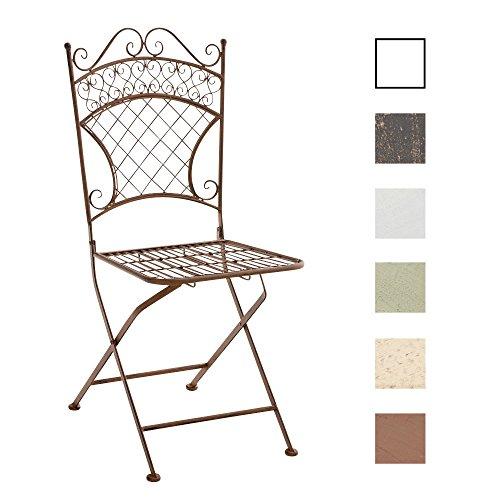 CLP-nostalgischer-Metall-Klappstuhl-ADELAR-aus-Eisen-aus-bis-zu-6-Farben-whlen-antik-braun