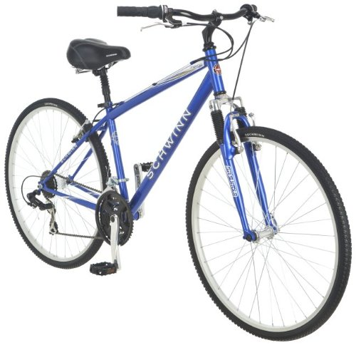 NEW Men's Blue Hybrid Frame Steel Body Alloy Rims Schwinn Merge Bicycle Bike