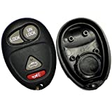 Discount Keyless Replacement 4 Button Case and Button Pad Compatible with GM Remotes