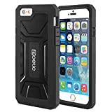iPhone 6 Plus Case - Poetic Apple iPhone 6 Plus 5.5 Case [REVOLUTION Series] - Rugged Hybrid Case with Screen Protector for Apple iPhone 6 Plus (5.5-inch) Black
