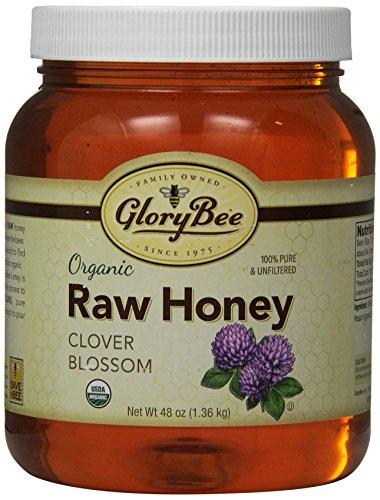 GloryBee Organic Raw Clover Honey, 48 Ounce