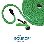 Quality Expandable Hose 75 Feet Green, No Kinking, Flexible, Lightweight, Super Strong, Superior to As Seen On TV Pocket Hose, Flex-Able Hose, Magic Hose, Shrinking Hose, DAP Xhose, Flexable Hose, Expands to 3 Times it's Original Length, Water Garden, Plants, Grass, No Tangle, Twist, Kink, 7 In 1 Sprayer Head Attachment Included, Expands and Contracts Halloween, October, Holiday, Christmas Gift