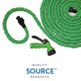 Quality Expandable Hose 75 Feet Green, No Kinking, Flexible, Lightweight, Super Strong, Superior to As Seen On TV Pocket Hose, Flex-Able Hose, Magic Hose, Shrinking Hose, DAP Xhose, Flexable Hose, Expands to 3 Times its Original Length, Water Garden, Plants, Grass, No Tangle, Twist, Kink, 7 In 1 Sprayer Head Attachment Included, Expands and Contracts Halloween, October, Holiday, Christmas Gift