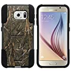 Galaxy S6 Case, Silicone Gel and PC Combination STRIKE Impact Kickstand Case with Dazzling Designs for Samsung Galaxy S6 VI SM-G920 (T Mobile, Sprint, AT&T, US Cellular, Verizon) from MINITURTLE | Includes Clear Screen Protector and Stylus Pen - Dry Wood Camouflage