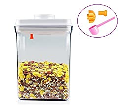 Food Storage Containers Airtight, PYRUS FDA Approved BPA Free One-touch Baby Food Containers 2.5-Quart for Milk Powder, Fruit, Medicine and Nuts