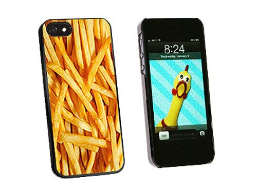 Graphics and More French Fries Snap-On Hard Protective Case for iPhone 5/5s - Non-Retail Packaging - Black (Iphone 5 Cases French Fries compare prices)
