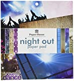 Paper House PP-0802E 8 by 8 inch Paper Pad, Night Out