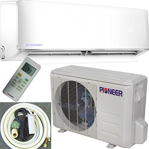 Pioneer Air Conditioner Inverter++ Ductless Wall Mount Mini Split System Air Conditioner & Heat Pump Full Set, 18000 BTU 230V (Pioneer Mini Split Inverter compare prices)